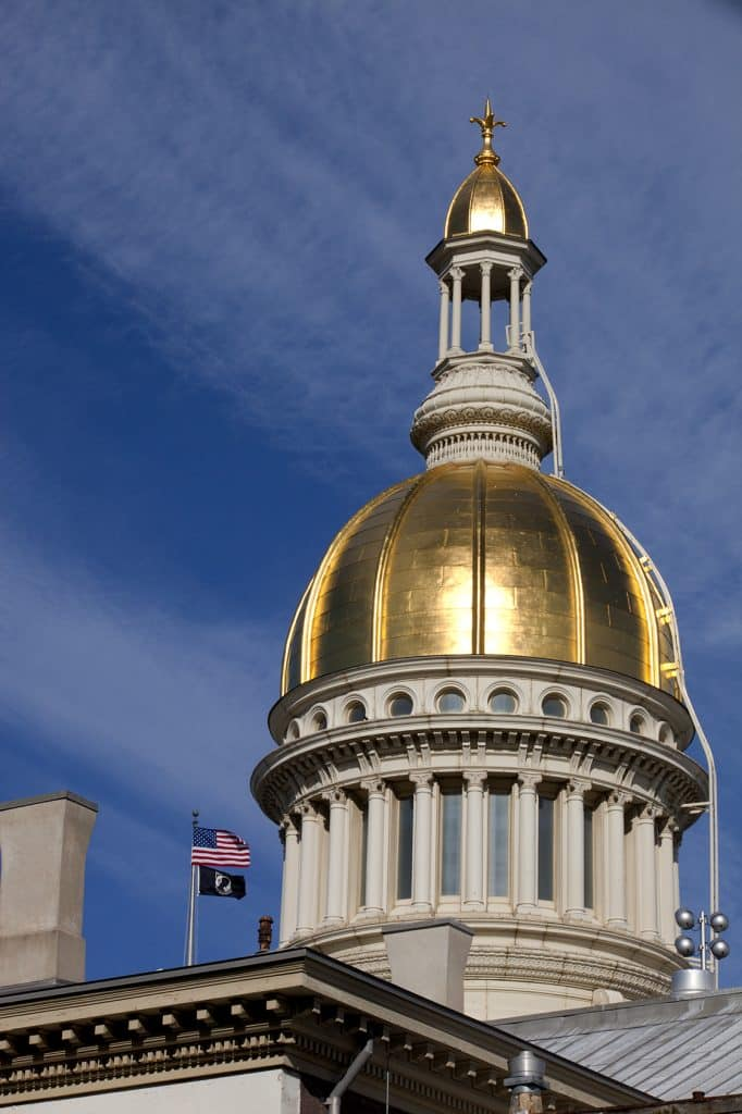New Jersey State Capitol Building Golden Dome in Trenton